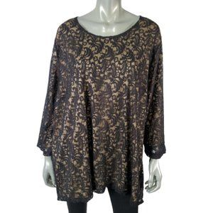 Catherines Lace Top Plus Size 3X 26/28W
